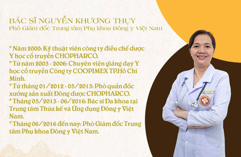Bác sĩ Nguyễn Khương Thụy đã có hơn 20 năm điều trị bệnh lý bằng YHCT