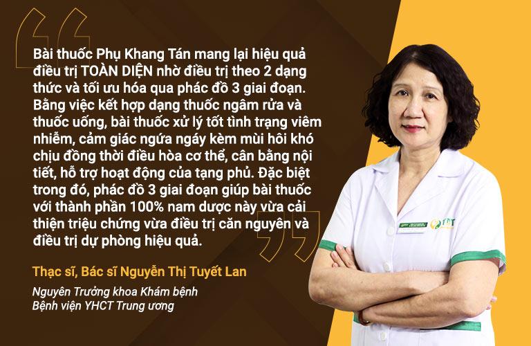 Bác sĩ Tuyết Lan đánh giá cao bài thuốc Phụ Khang Tán