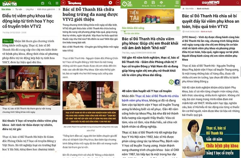 Nhiều báo đài uy tín đưa tin về bác sĩ Đỗ Thanh Hà