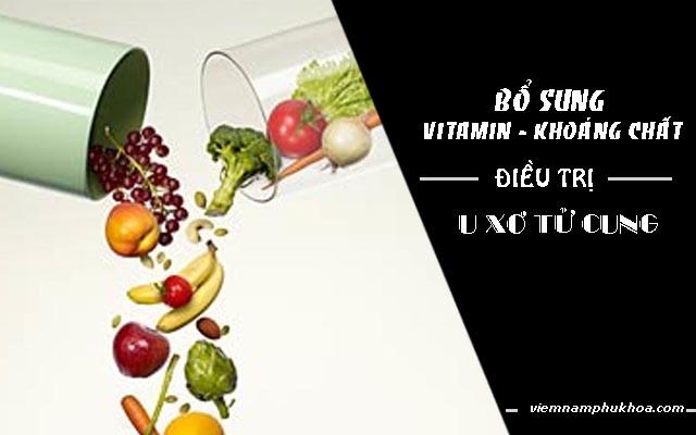 bổ sung vitamin chữa u xơ tử cung