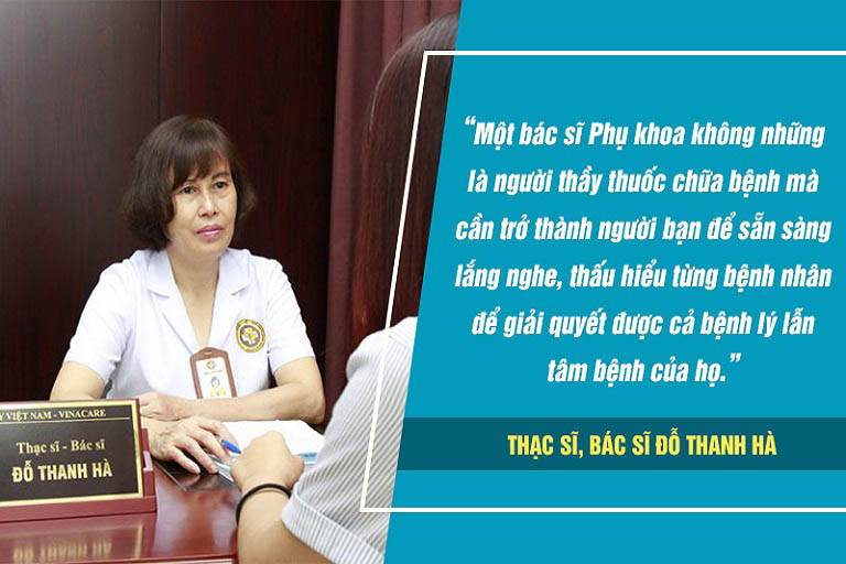 Bác sĩ Hà không chỉ hỗ trợ điều trị bệnh lý mà còn giúp bệnh nhân vượt qua những áp lực tâm lý khi mắc bệnh