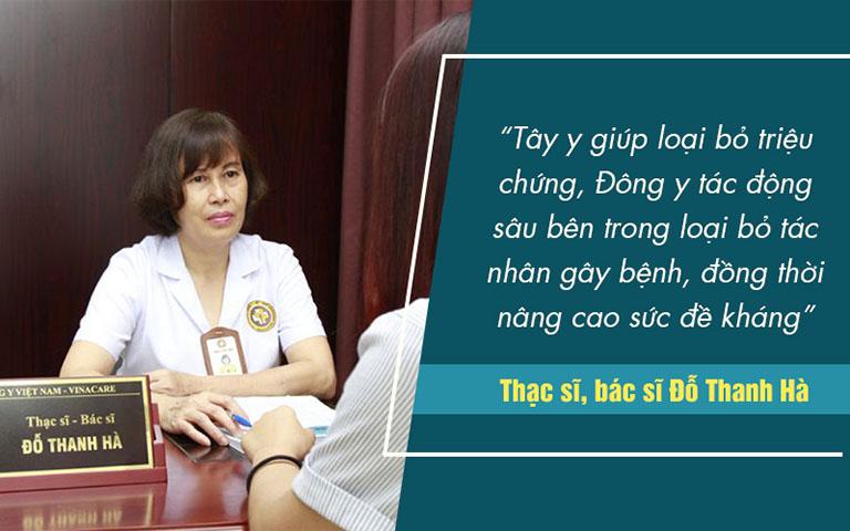 Bác sĩ Thanh Hà luôn mong muốn người bệnh không chỉ khắc phục được vấn đề mà còn phải cải thiện được sức khỏe tốt nhất