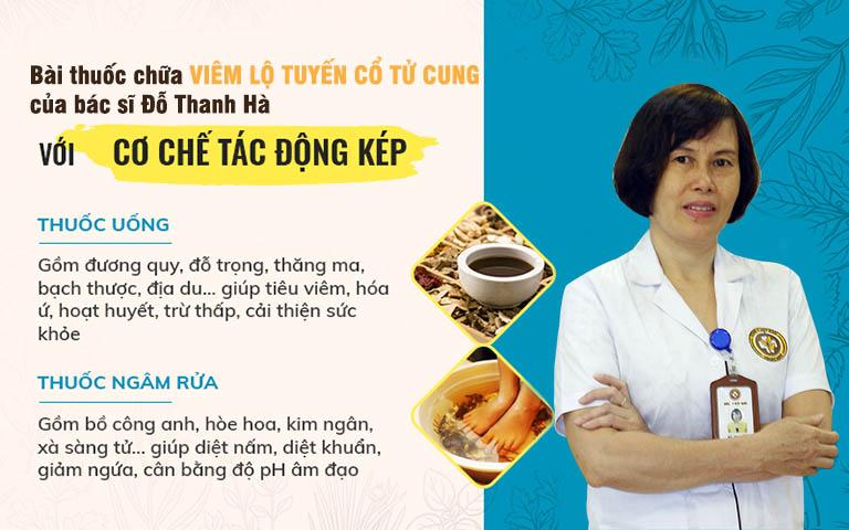 """Tác động kép """"trong uống - ngoài rửa"""", bài thuốc của bác sĩ Đỗ Thanh Hà mang lại hiệu quả tối ưu cho người bệnh viêm lộ tuyến cổ tử cung"""