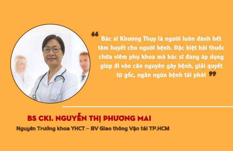 Đánh giá của chuyên gia về bài thuốc của bác sĩ Nguyễn Khương Thụy
