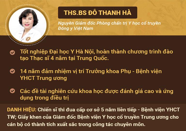 Bác sĩ Đỗ Thanh Hà là chuyên gia hàng đầu trong chữa vô sinh hiếm muộn bằng Đông y