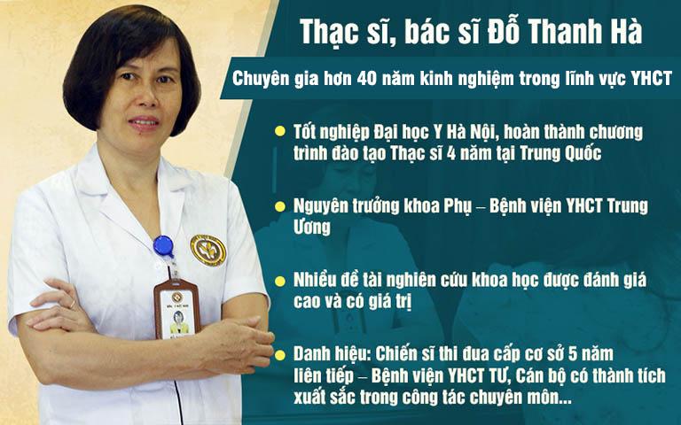 Bác sĩ Đỗ Thanh Hà được hàng nghìn chị em tin tưởng lựa chọn khi xử lý bệnh viêm phụ khoa