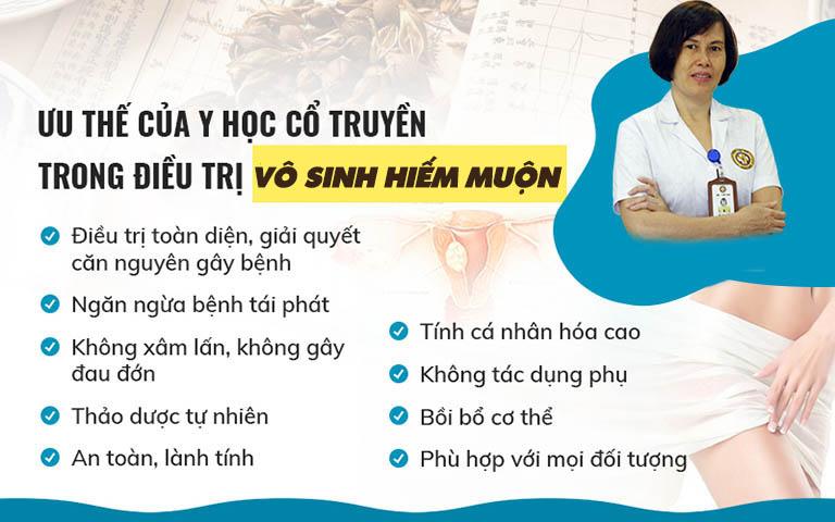 Bác sĩ Hà cho biết Đông y cũng là một trong những giải pháp tốt trong việc cải thiện nội tiết, cải thiện chức năng các cơ quan sinh dục, giúp tăng khả năng thụ thai