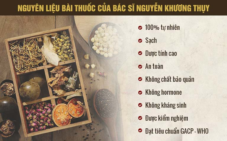Nguyên liệu bài thuốc của Bác sĩ Nguyễn Khương Thụy