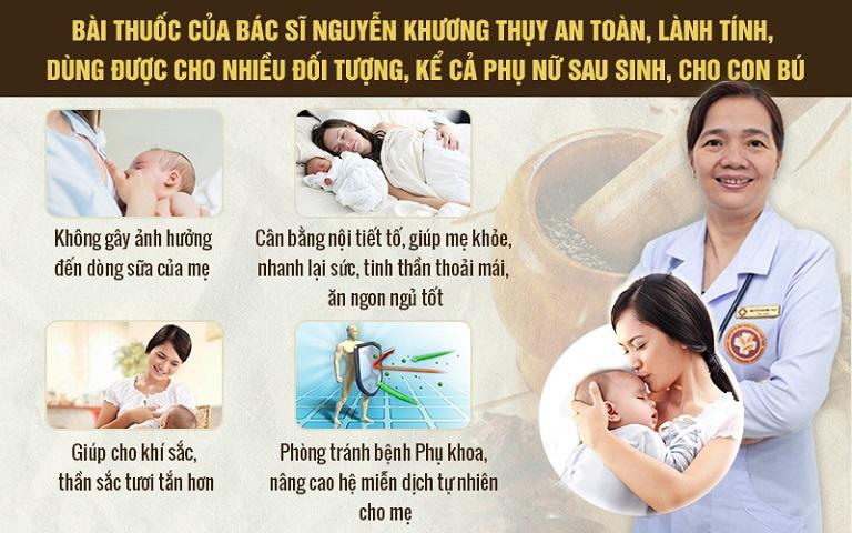 Bài thuốc của bác sĩ Nguyễn Khương Thụy đặc biệt phù hợp với phụ nữ viêm lộ tuyến cổ tử cung sau sinh như chị Ngân