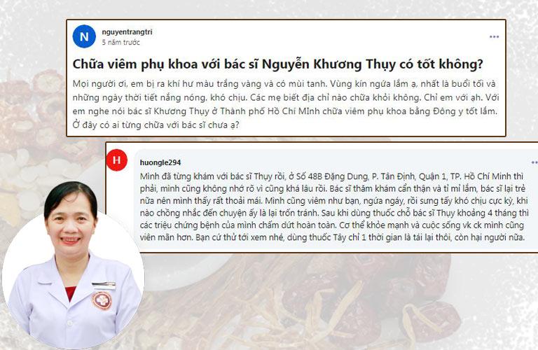 Nhiều chị em mách nhau về hiệu quả bài thuốc của bác sĩ Nguyễn Khương Thụy