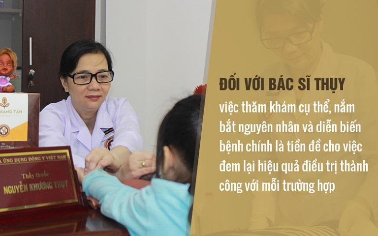 Trong thăm khám và điều trị bệnh viêm phụ khoa, bác sĩ Thụy luôn coi trọng việc nắm rõ nguyên nhân gây bệnh nhằm đảm bảo hiệu quả với mỗi bệnh nhân