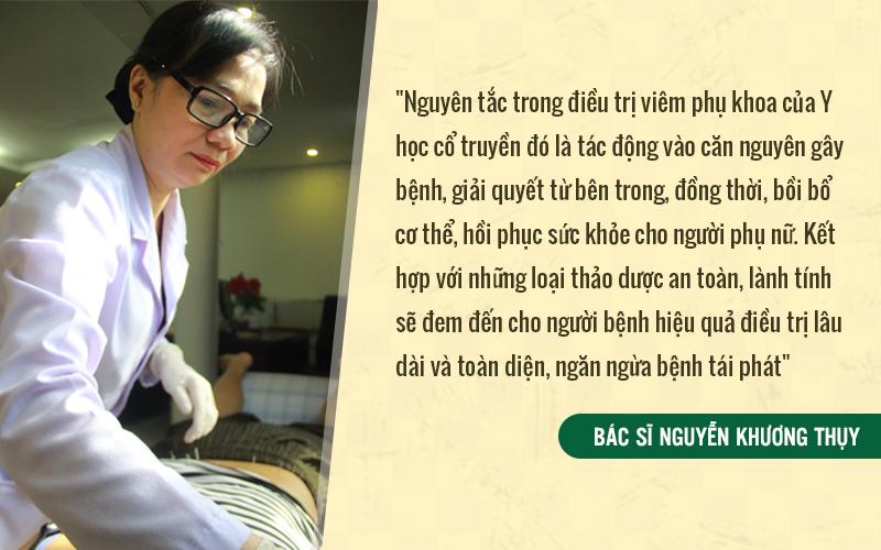 Bác sĩ Thụy nói về nguyên tắc điều trị bằng YHCT mà mình vẫn luôn áp dụng