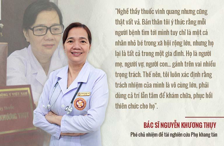 Bác sĩ Nguyễn Khương Thụy trị viêm phụ khoa