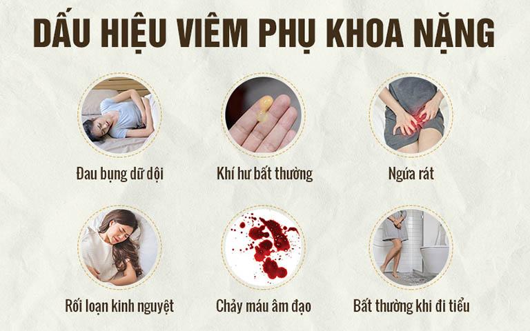 Dấu hiệu viêm phụ khoa nặng