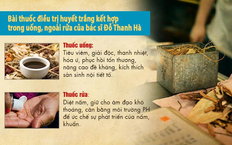 Thành phần và công dụng trong bài thuốc phụ khoa của bác sĩ Hà