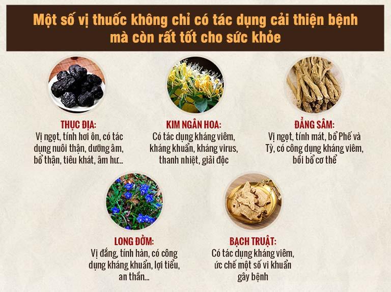 Một số vị thuốc được sử dụng trong bài thuốc của bác sĩ Thanh Hà