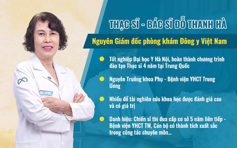 Thạc sĩ, bác sĩ Đỗ Thanh Hà - chuyên gia trong điều trị bệnh sản phụ khoa bằng Đông y