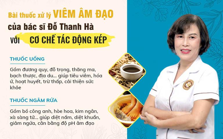 Bài thuốc trị viêm âm đạo với 2 chế phẩm chính của bác sĩ Đỗ Thanh Hà